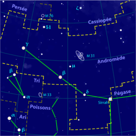 Image illustrative de l'article Andromède (constellation)