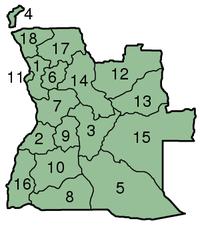 Provincias de Angola.