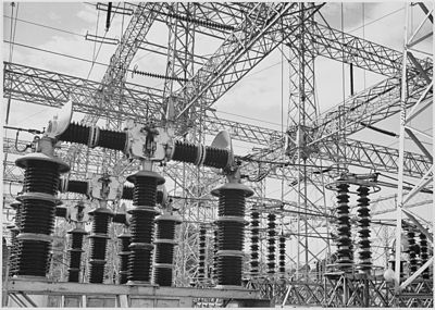 Ansel Adams photograph of Electrical Wires of the Boulder Dam Power Units