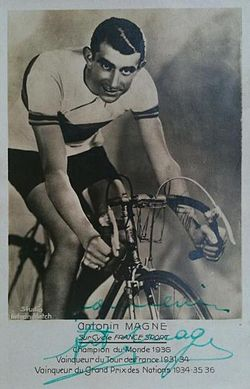 Man posing on bicycle