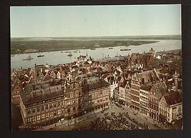 Antwerpen en de Schelde, eind 19de eeuw.