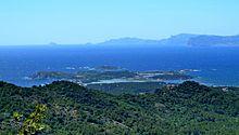 Vue de l'Archipel des Embiez depuis le Cap Sicié