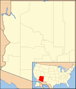 Arizona is a southwestern U.S. state. The park is in the northeastern part of the state.