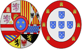 Arms of Barbara of Portugal, Queen Consort of Spain.png