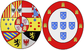 Arms of Maria Isabel of Portugal (1797-1818), Queen Consort of Spain.png