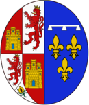 Arms of Marie Louise d'Orléans (1662–1689), Queen consort of Spain.png
