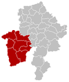 Localisation de l'arrondissement au sein de sa province
