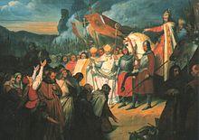 Ary Scheffer, Charlemagne reçoit la soumission de Widukind à Paderborn, (1840).jpg
