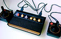Though much smaller in size, the Atari Flashback 2 resembles the original Atari VCS console from 1977.