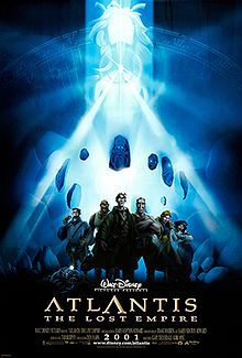 The expedition crew stand together as a mysterious woman is floating in the background, surrounded by stone effigies and emitting brilliant white beams of light from a crystal necklace.