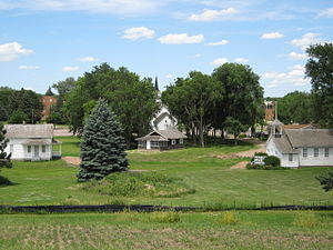 Augustana College Heritage Park, the site of several historic buildings, including the Beaver Creek Lutheran Church, the one-room Eggers School, and the Berdahl-Rølvaag House