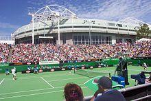 Spectators watching the Australian Open
