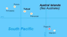 Rapa sur la carte des Australes