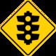 Australian traffic lights ahead sign.png