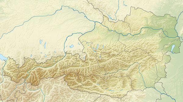 Voir la carte Autriche topographique