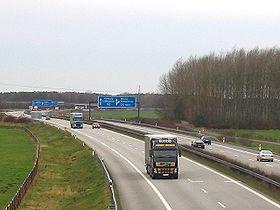 La E26 au niveau de Dreieck en Allemagne