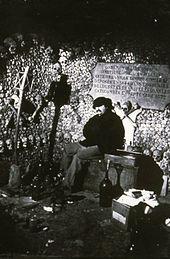 Autoportrait de Nadar dans les Catacombes en 1860.