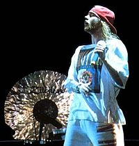 Axl Rose on stage in Tel Aviv, Israel, 1993