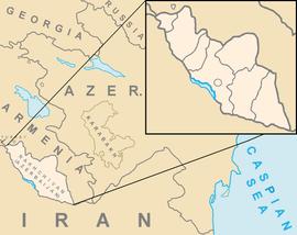 Location of Nakhchivanin the South Caucasus region