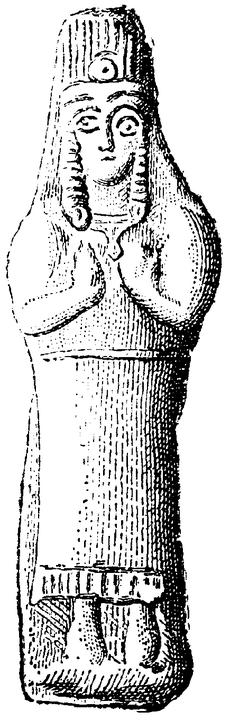 Babylonska astartefigurer, klädd, Nordisk familjebok.png