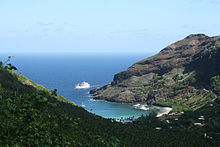 Photographie de la baie de Hane.