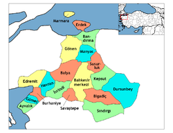 Districts of Balıkesir