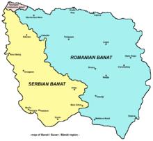 Map of Banat