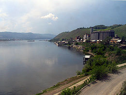 Rives de l'Ienisseï près de Krasnoïarsk.