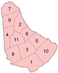 Barbados parishes numbered.png
