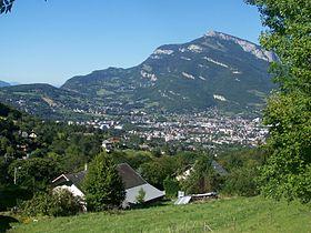 Vue de Barberaz depuis la Lésine sur les hauts de la commune.
