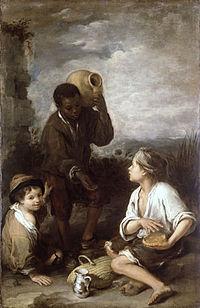 Tres muchachos (Dos golfillos y un negrito), hacia 1670, Londres, Dulwich Picture Gallery.