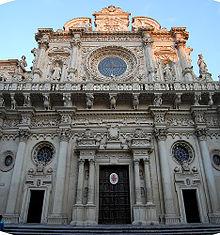 Photographie de la basilique Santa Croce à Lecce