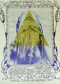 Affiche de l'assemblée hippie Human Be-In par Michael Bowen