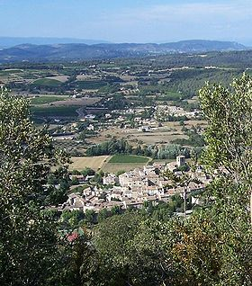 Beaumont-de-Pertuis: vue depuis la montagne sainte-Croix (été 2007)