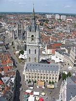 Gent gezien vanaf de kathedraaltoren