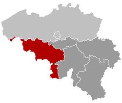 Locatie van de provincie Hegengouwen