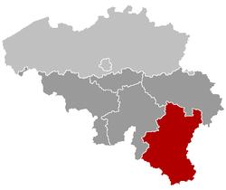 Locatie van de provincie Luxemburg