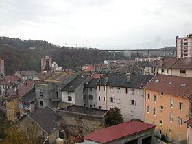 Une vue du centre-ville