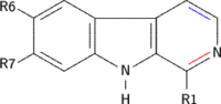 Substituted beta-carbolines (structural formula)