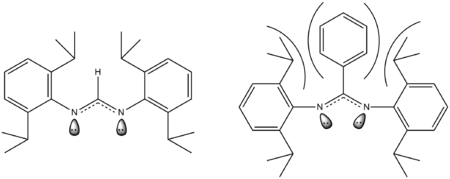 Steric effects on a bidentate ligand