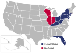 Big East Conference locations