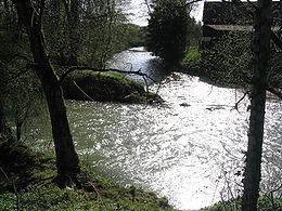 Confluence de la Birse et de la Sorne à Delémont.