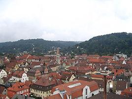 Schwäbisch Gmünd viewed from the Kings Tower (Königsturm)
