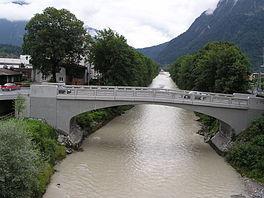Pont sur l'Ill reliant Bludenz et Bürs.