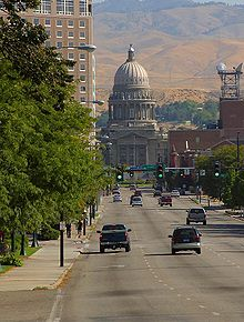 The # Idaho State Capitol building in Boise