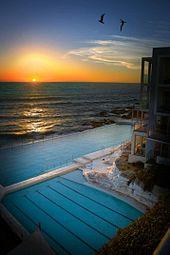 A pool on the beach