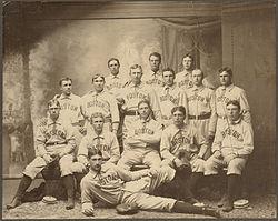 The 1901 Boston Americans team photograph