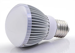 Modern LED retrofit with E27 screw in base