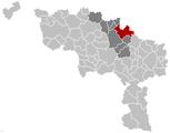 Situation de la ville au sein del'arrondissement de Soignies et dela province de Hainaut