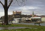 Burcht van Bratislava aan de Donau